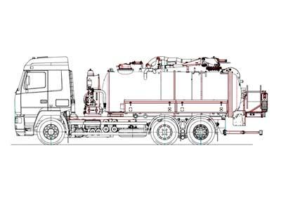 Комбинированный каналопромывочный автомобиль МВУ-200-00 и МВУ-170-00 на базе шасси МАЗ-6312