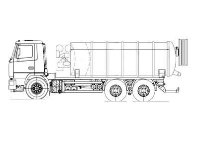 Комбинированный каналопромывочный автомобиль МВУ-780-00 на базе шасси МАЗ-5340