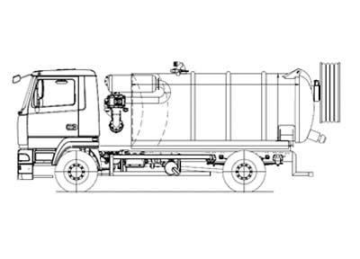Комбинированный каналопромывочный автомобиль МВУ-780-00 на базе шасси МАЗ-6312